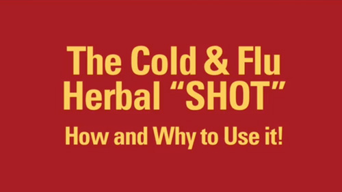 "The Cold & Flu Herbal ""SHOT"""