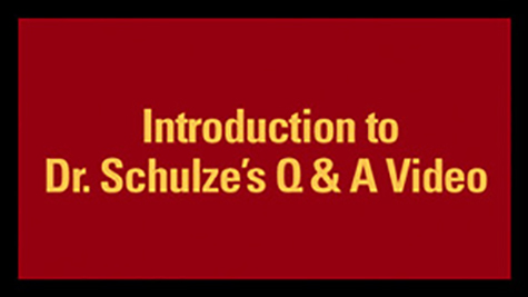 Introduction to Dr. Schulze's Q&A Video