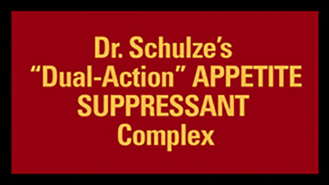"100% Herbal SuperSlim: Dr. Schulze's ""Dual-Action"" APPETITE SUPPRESSANT Complex"